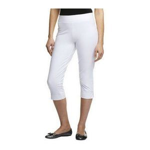 Women with Control Capri Pants Petite Large White